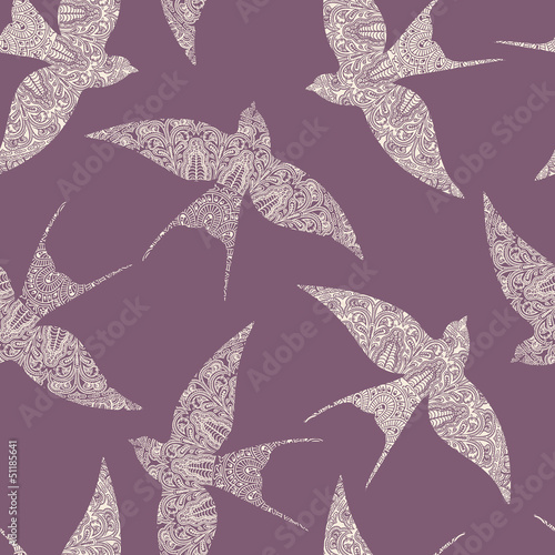 swallow seamless pattern