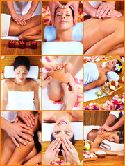 Fototapeta Do Spa Woman having massage.