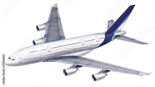 Fotografia  A 380 passenger aircraft.