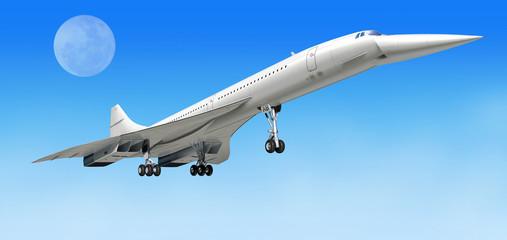 Nadzvučni zrakoplov Concorde, tijekom polijetanja ili slijetanja