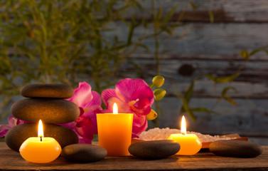Fototapeta Spa martwa natura z aromatycznym świece