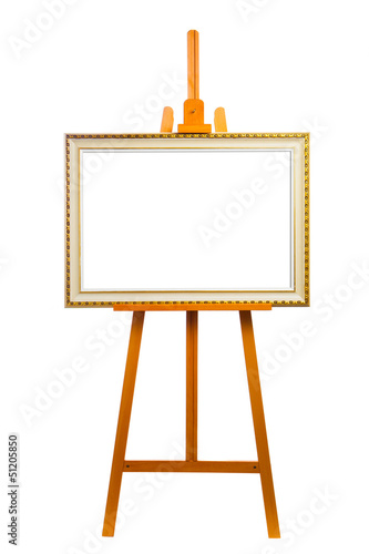easel with painting frame Wallpaper Mural