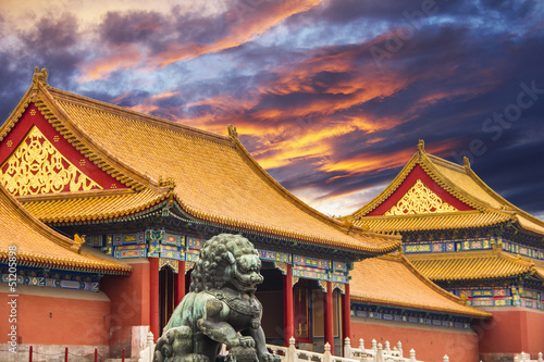 Spoed Foto op Canvas Beijing The Forbidden City of Beijing, China