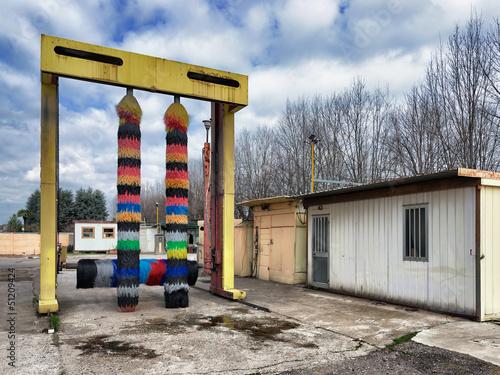 Valokuvatapetti car and truck washing plant