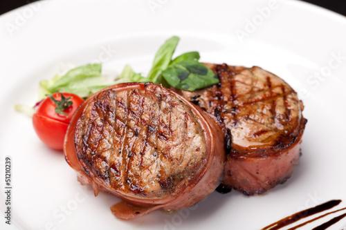 Photo  Grilled bbq steak