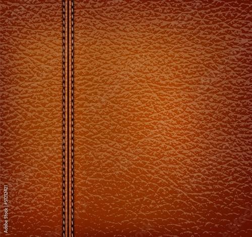 Deurstickers Leder brown leather background. Vector illustration.