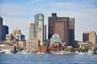 Boston City Skyscrapers, Custom House and Boston Waterfront, USA