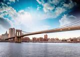 Amazing New York Cityscape - Skyscrapers and Brooklyn Bridge at - 51220697