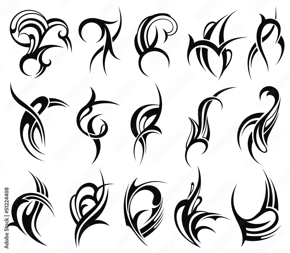 Fototapeta Tribal tattoo element design