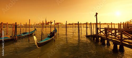 Poster Venise San Giorgio Maggiore island at sunset