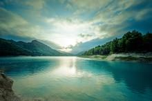 Beautiful Lake At Dusk