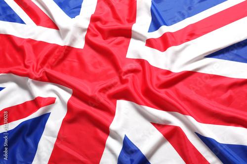 UK, British flag, Union Jack Canvas Print