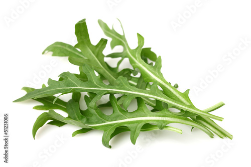 Ruccola leaves in closeup