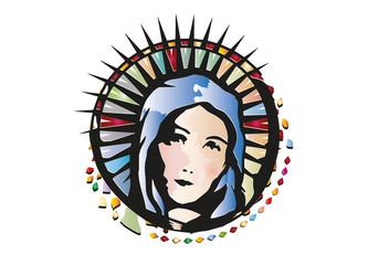 Kirchenfenster Maria
