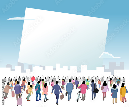 Photo 白いボードに集まる人々