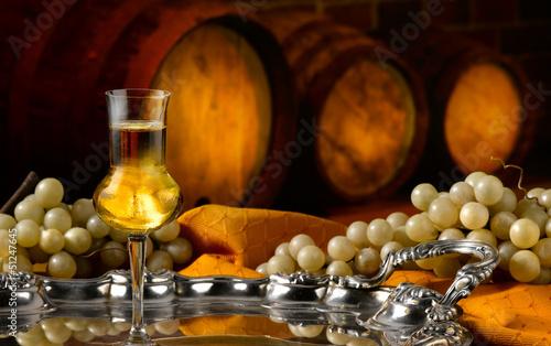 Photo bicchiere di grappa