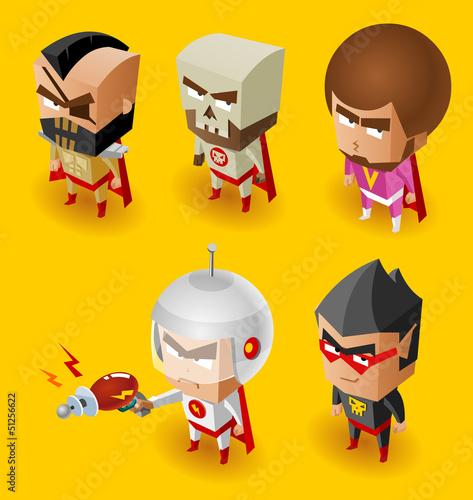 Poster Superheroes Super Villain with evil mind