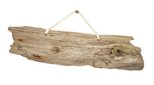 Isolated Driftwood Wooden Sign...