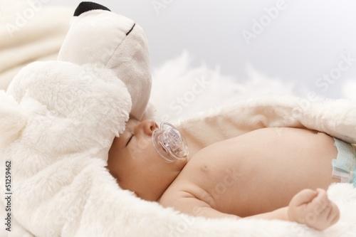 Foto op Plexiglas Arctica Adorable sleeping newborn baby