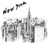 New York - hand drawn illustration