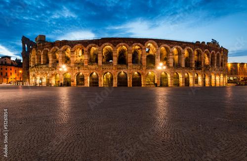 fototapeta na szkło Arena, amfiteatr w Weronie we Włoszech