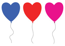 Set Of Three Heart Balloons