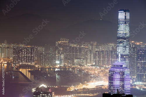 Hong Kong night view Poster