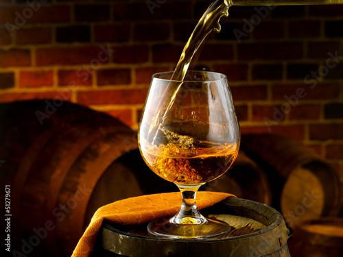 bicchiere di cognac Canvas Print