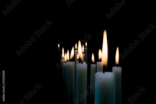 Kerzenschein - Trauerkarte Fototapeta