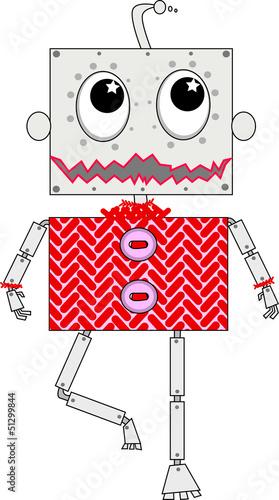 Photo  roboter mit rotem Pulli