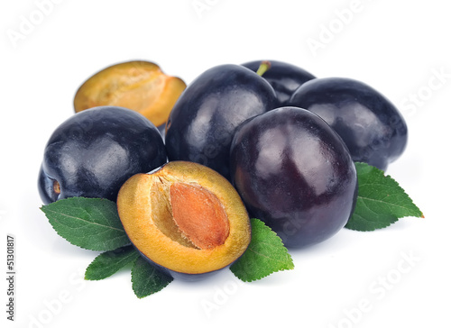 Ripe juicy plum