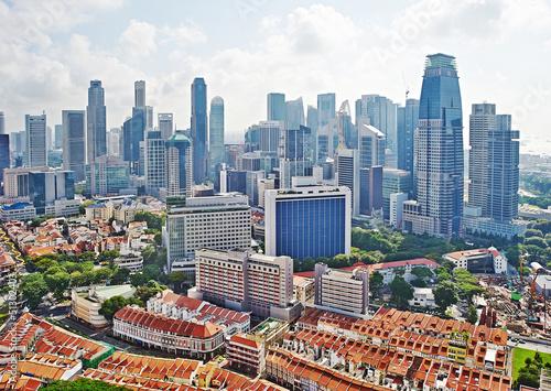 Tuinposter Singapore Singapore cityscape