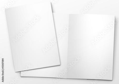 Fotografía  mockup broschüre titel und offen