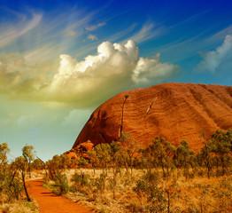 Wonderful Outback colors in Australian Desert