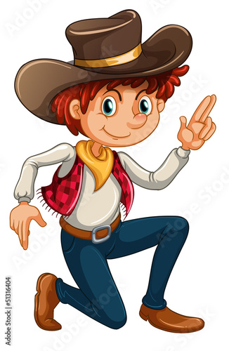 Recess Fitting Ranch A cowboy