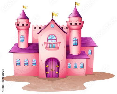 Poster Castle A pink colored castle