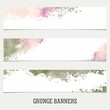 Set of grunge banners.