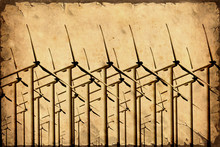 Retroplakat - Windmühlen