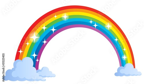 Wall Murals For Kids Image with rainbow theme 1
