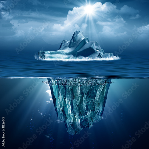 Fotografie, Obraz  Iceberg. Abstract eco backgrounds for your design