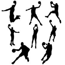 Set Basketball Player In Actio...