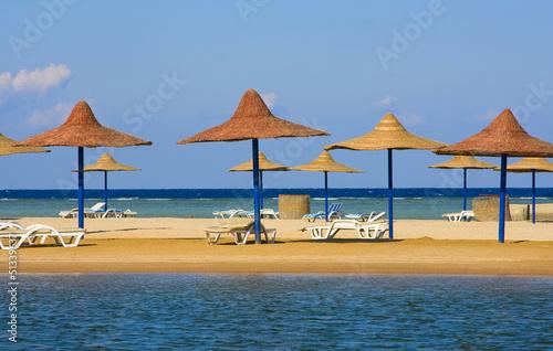 In de dag Egypte Beach in Egypt