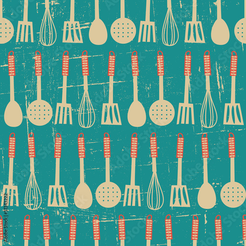 Fototapeta Retro Kitchen Pattern