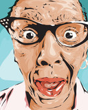 Surprised old lady - 51348819
