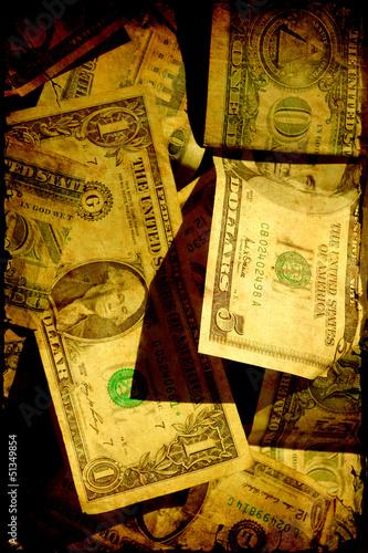 Papiers peints Affiche vintage Retroplakat - Dollarscheine II
