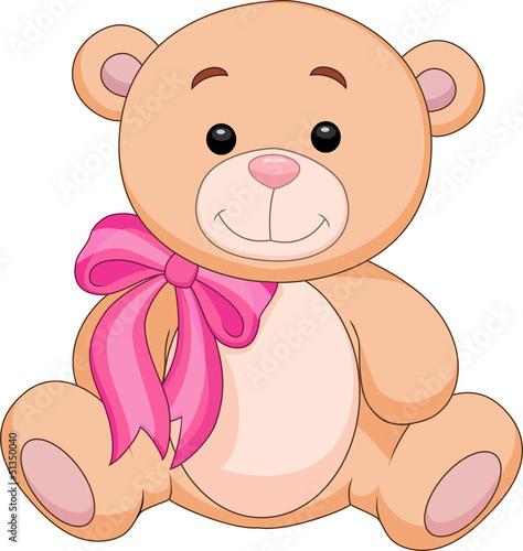 Cute brown bear stuff cartoon #51350040
