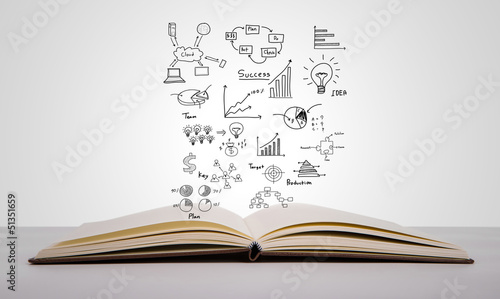 Fotografie, Obraz  Magic book with business concept and graph