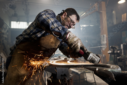 metal worker artisan Wallpaper Mural
