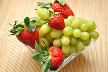 Green Grapes With Strawberries