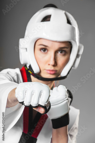 Woman in sports clothing. closeup Canvas Print